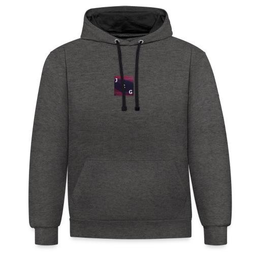 JustRomGames Logo - Kontrast-Hoodie