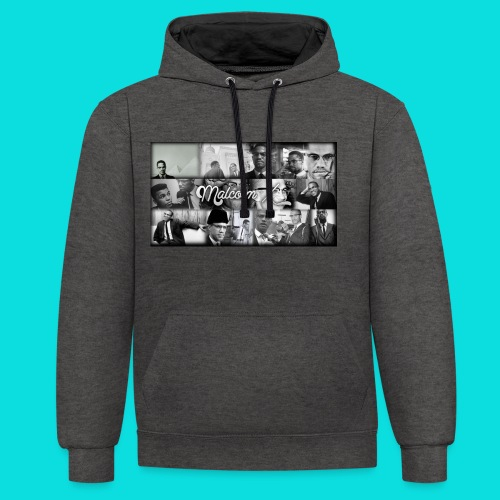 malcolm X - Contrast Colour Hoodie