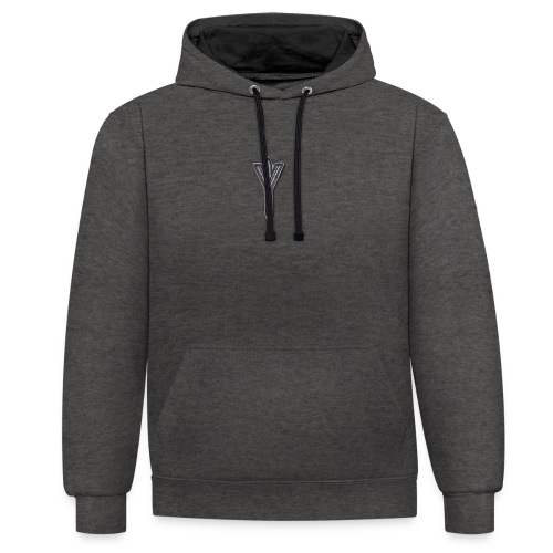 Algiz Rune - Connection with Asgard / Protection - Contrast Colour Hoodie