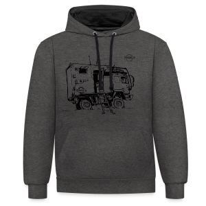 Sketch Expedition Truck Terratrotter® - Contrast Colour Hoodie