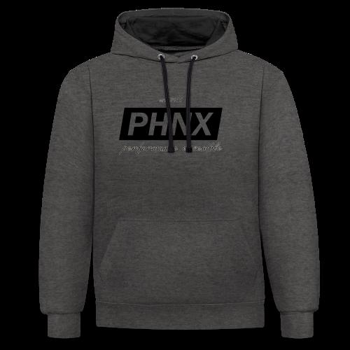 PHNX /#black/ - Kontrast-Hoodie