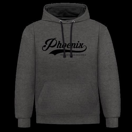 Phoenix Retro Black - Kontrast-Hoodie