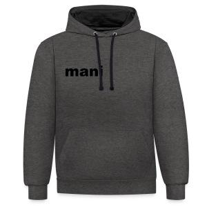 mani - Contrast hoodie