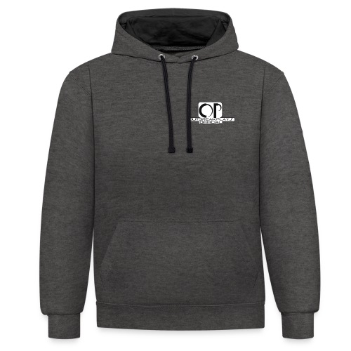 outbreakplays official OP logo - Contrast Colour Hoodie