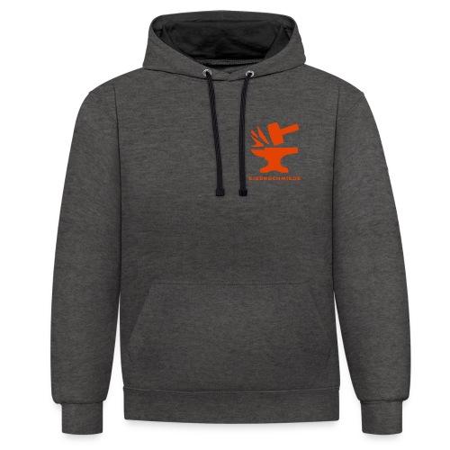 Eisenschmiede Orange - Kontrast-Hoodie