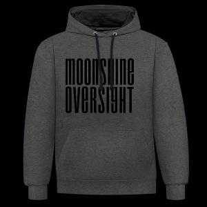 Moonshine Oversight noir - Sweat-shirt contraste