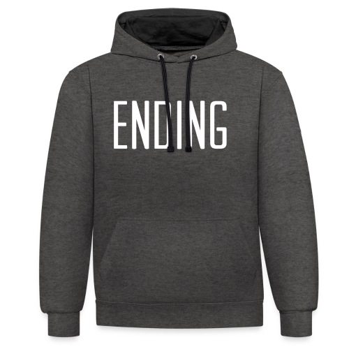 Simple Ending Text - Contrast Colour Hoodie
