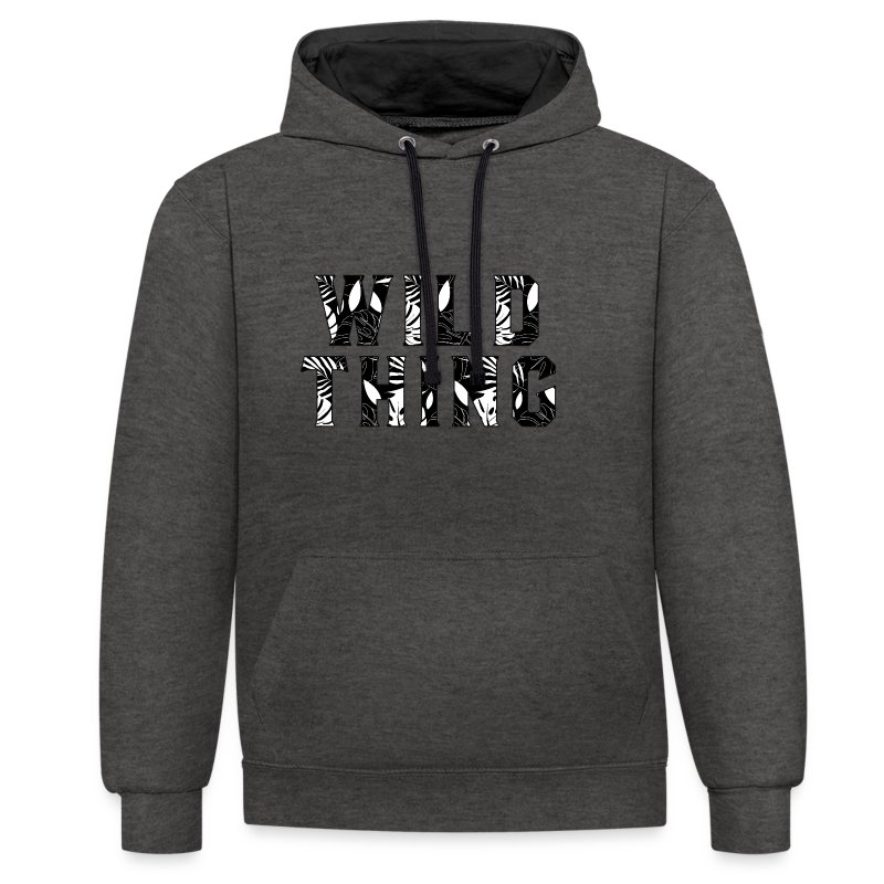 Wild Thing - Contrast Colour Hoodie
