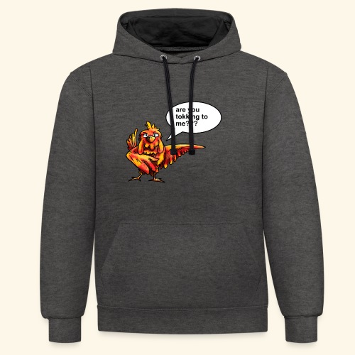 Are you tokking to me - Contrast hoodie