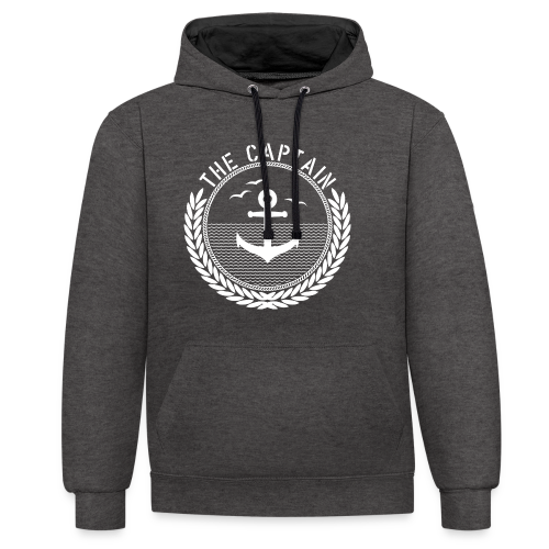 The Captain - Anchor - Kontrast-Hoodie