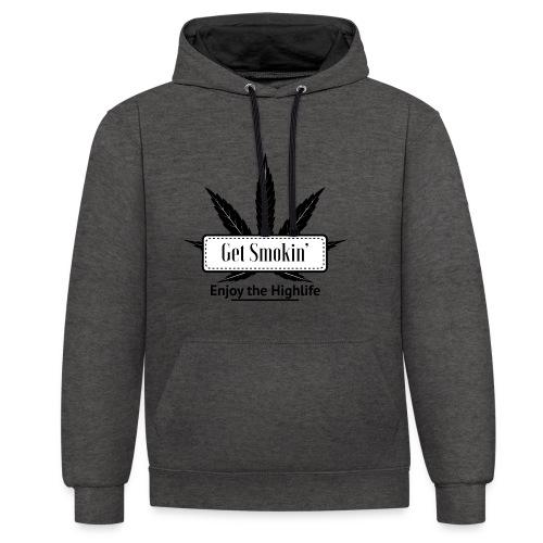 GetSmokin Logo - Contrast hoodie