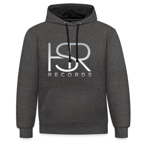 HSR RECORDS - Felpa con cappuccio bicromatica