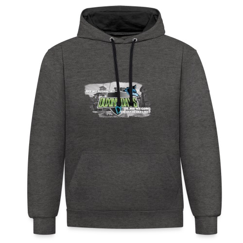 The Duxing Day's Motto Streetwear - Kontrast-Hoodie