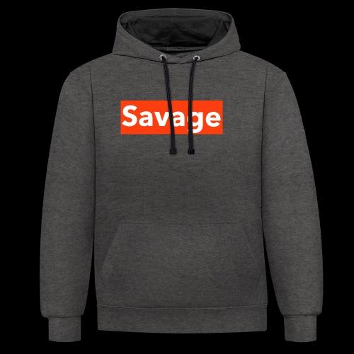 savage - Contrast Colour Hoodie