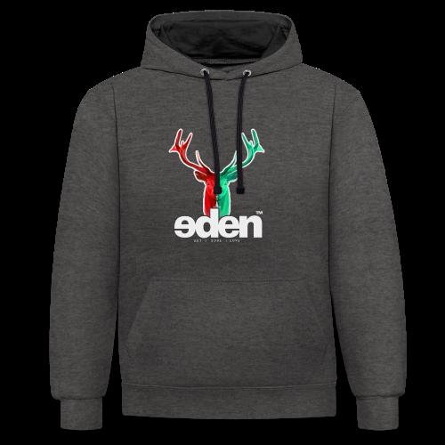 geweihbär EDEN - Kontrast-Hoodie