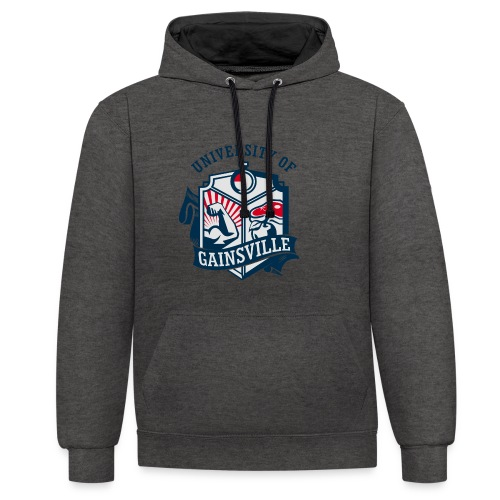 University of Gainsville Logo - Kontrast-Hoodie