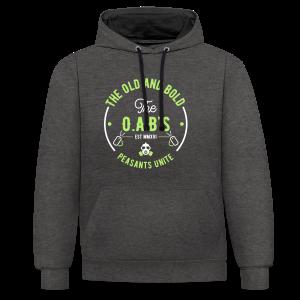 OAB unite green - Contrast Colour Hoodie