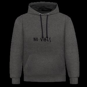 NoVibes - Contrast Colour Hoodie