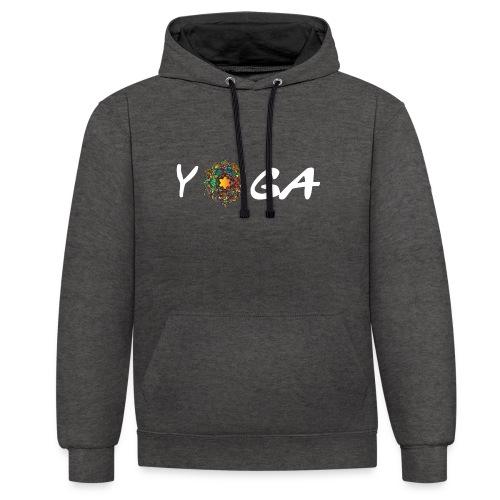 YOGA MANDALA T-SHIRT - Kontrast-Hoodie