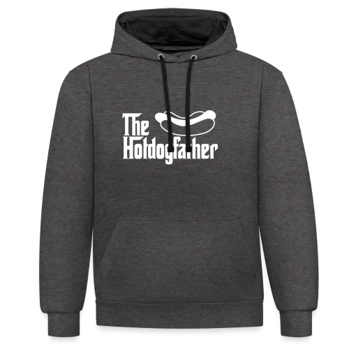 The Hotdogfather - Sudadera con capucha en contraste