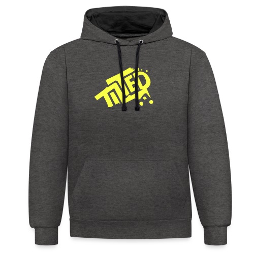 Fortnite Tilted (Yellow Logo) - Contrast Colour Hoodie