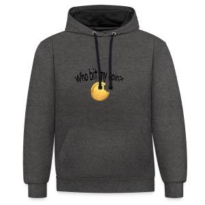 Bitcoin bite - Contrast hoodie