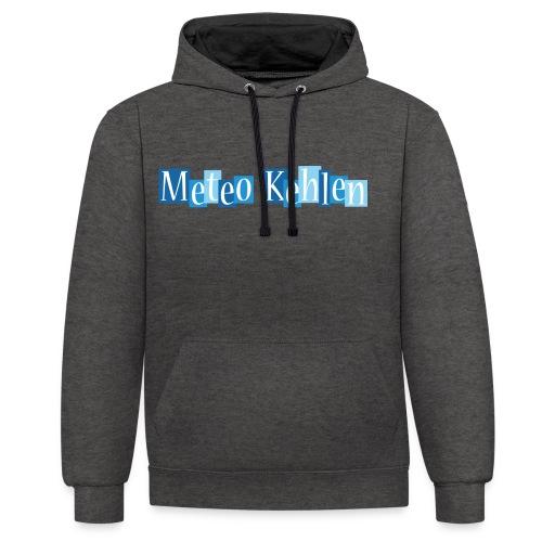 mk logo 3 - Kontrast-Hoodie