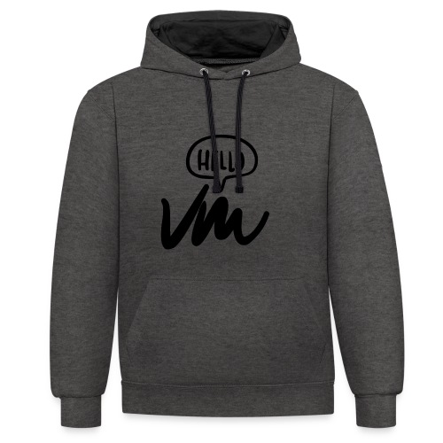 VM Hello! - Contrast Colour Hoodie