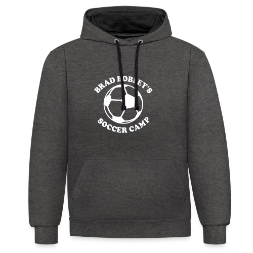Soccer Camp Logo No Initial - Contrast Colour Hoodie