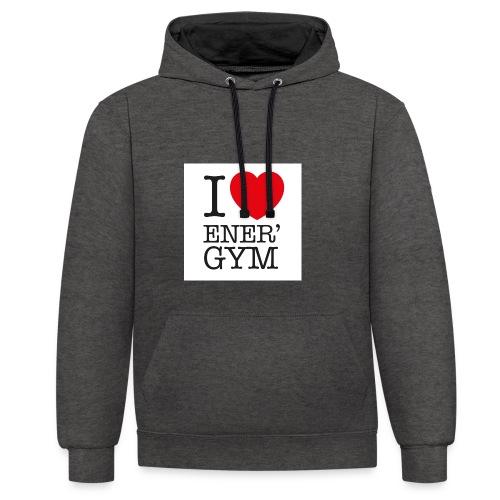 I love Ener'gym - Sweat-shirt contraste
