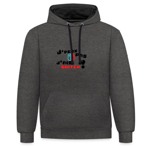 J'peux pas j'ai switch ! - Sweat-shirt contraste
