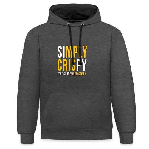 simplycrispy logo - Kontrast-Hoodie