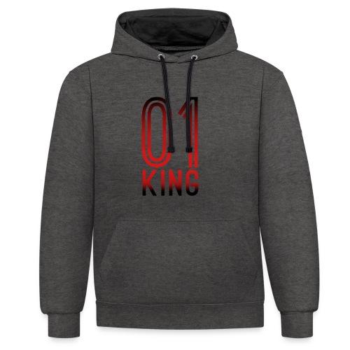 King Hoodie - Kontrast-Hoodie