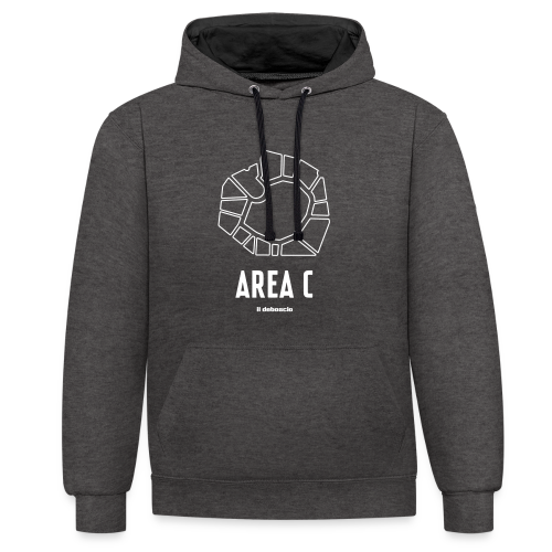 AREA C - Felpa con cappuccio bicromatica