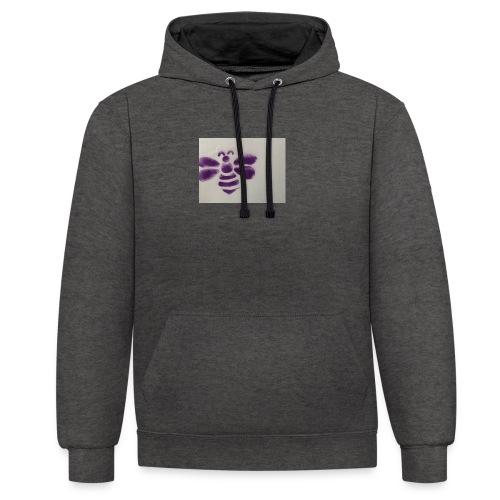 hoodie - Kontrast-Hoodie