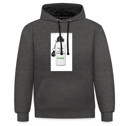 RocksAndSand adventure bottle - Contrast Colour Hoodie