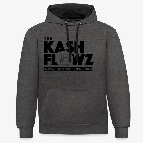 The Kash Flowz Official Web Site Black - Sweat-shirt contraste