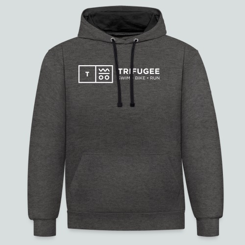 Trifugee_Logo - Kontrast-Hoodie