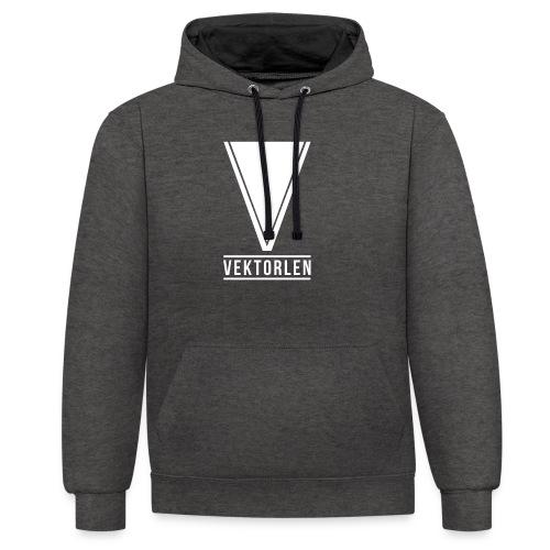 Premium-Logo Dick - Kontrast-Hoodie