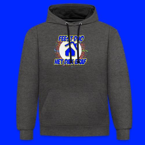 Feest Duo Het Dak Eraf - Contrast hoodie