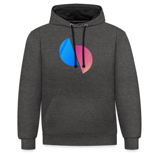 Ediplace logo färg - Kontrastluvtröja