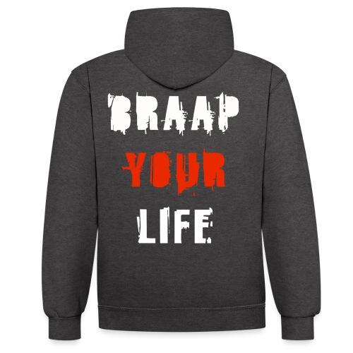 Braapyourlife Crew - Kontrast-Hoodie