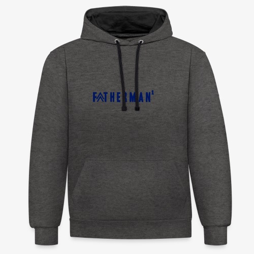 father's day t-shirt - fatherman1 - Contrast Colour Hoodie