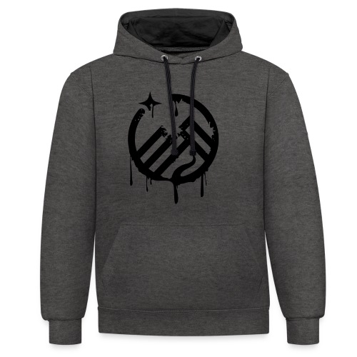 LogoSprayed - Kontrast-Hoodie