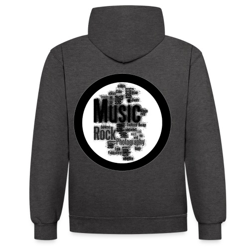 Music Photography - Contrast Colour Hoodie