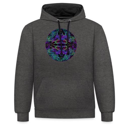 Psychedelic Mandala II - Kontrast-Hoodie