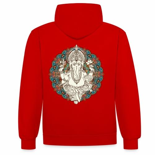 Ganesha - Kontrast-hættetrøje