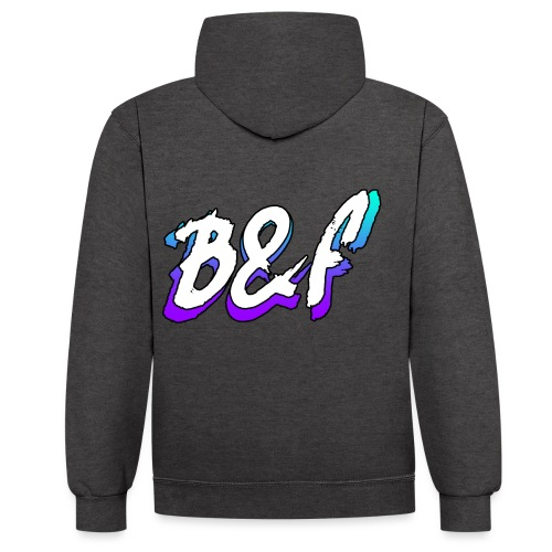 Purple and Blue Fade - Contrast Colour Hoodie