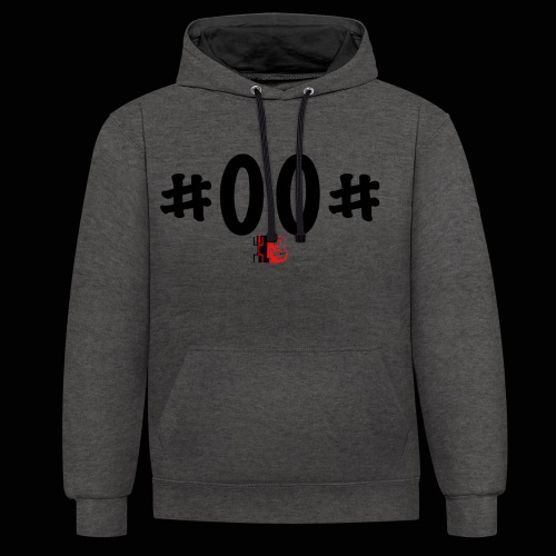 n° de série #00# Noir - Sweat-shirt contraste