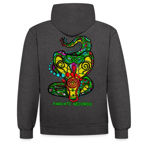 Parvati Records Cobra by Juxtaposed HAMster - Contrast Colour Hoodie